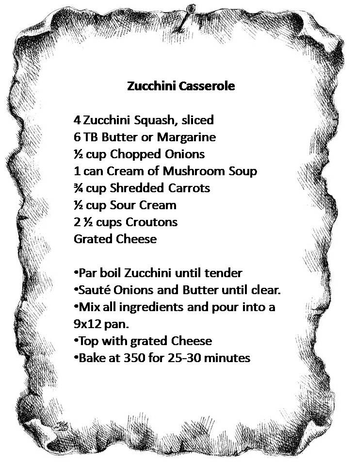 Recipe - Zucchini Casserole