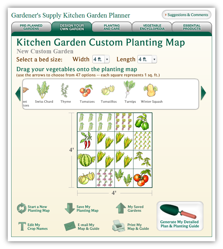 Sonoran Garden Cool Square Foot Garden online planner – Garden Planning Website