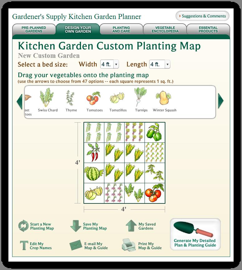 Garden Planning website 2